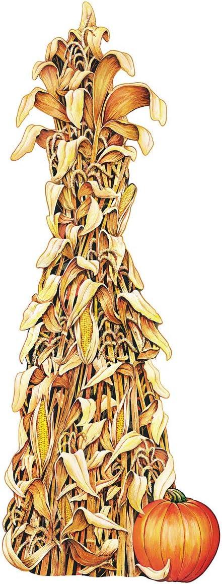 TCDesignerProducts Giant Corn Shock Cardboard Cutout, Thanksgiving Decorations, 5 Feet Tall