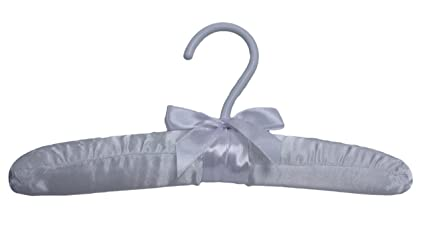 """Pack of 6 Only Hangers White 10/"""" Satin Padded Baby Top Hangers"""