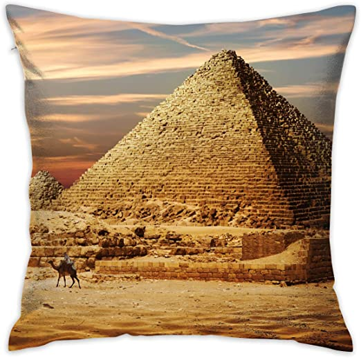 Amazon Com Lnc 01p Ancient Egypt Pyramids Throw Pillow Cases Flax Cushion Cover Car Sofa Home Decorative 18x18 Pillowcase Set Of 2 For Home Sofa Decorative Office Chairs Cars Bars Home Kitchen