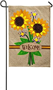 Evergreen Flag Sunflower Bouquet Garden Burlap Flag - 12.5 x 18 Inches Outdoor Decor for Homes and Gardens