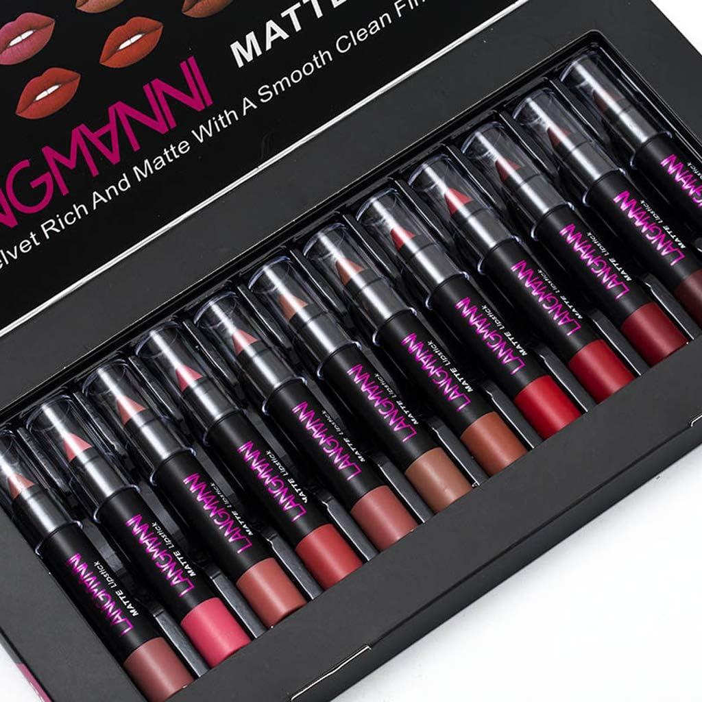 LANGMANNI 12pcs kit matte Lipstick