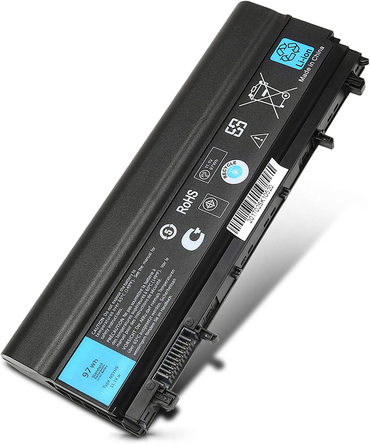 97WH Laptop Battery fit Dell Latitude 14 E5440 E5540 N5YH9 VVONF 0K8HC 1N9C0 VJXMC 7W6K0 F49WX 0M7T5F NVWGM CXF66 WGCW6 312-1351 Laptop Battery-9 Cell 11.1V