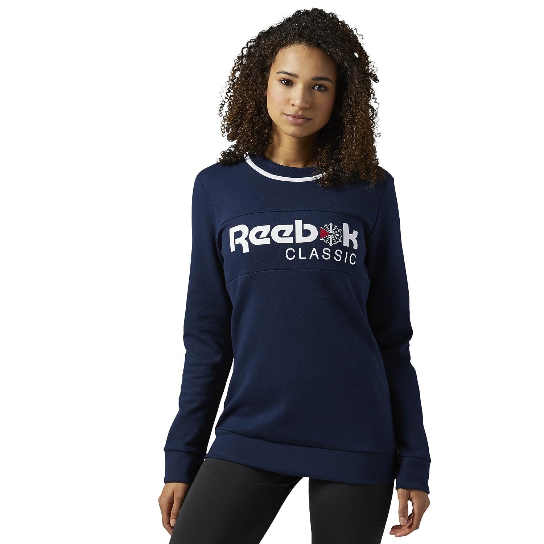 Collegiate Navy XLTG Reebok Classic Women's Foundation Iconic Fleece Crew