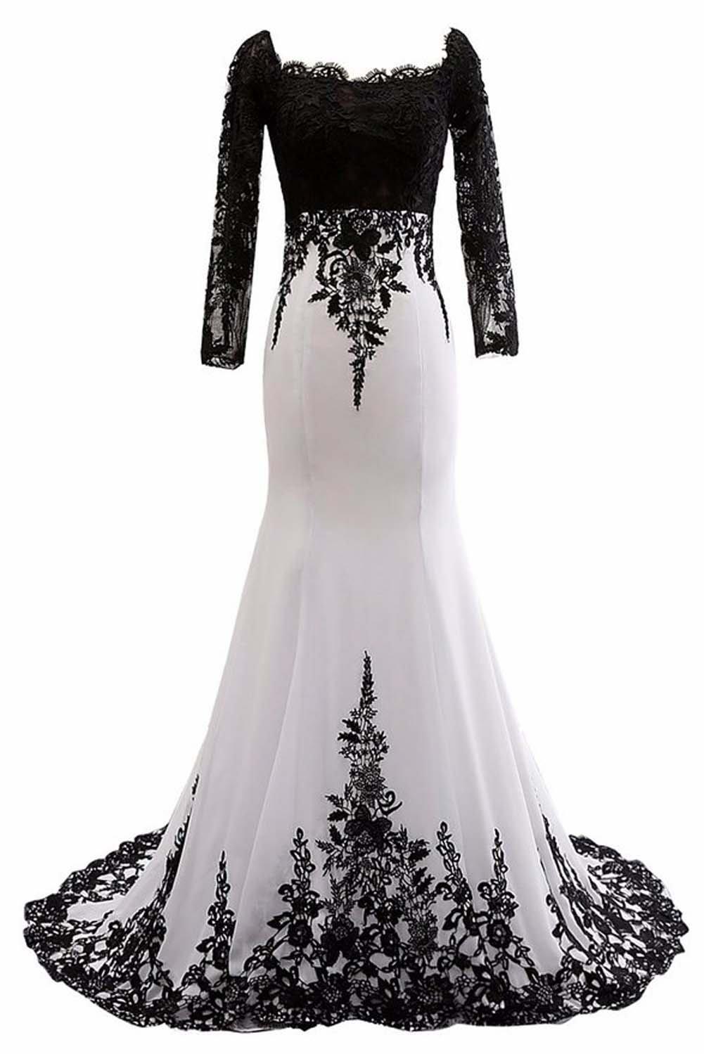 4115096ecf7a Ruiyuhong Women's Lace Long Sleeve Evening Dresses Mermaid Party Gowns LH18