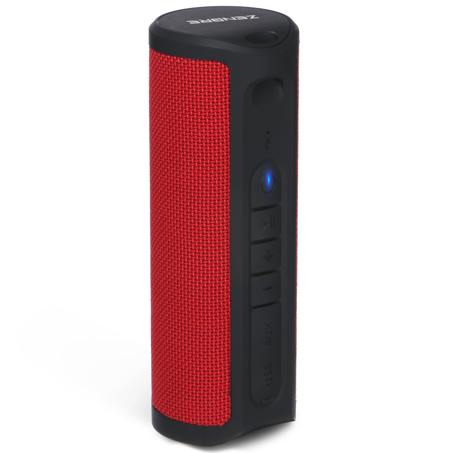 Bluetooth Speakers,ZENBRE Z4 True Wireless Stereo Waterproof IPX4 Speaker, Enhanced Bass with 2x5W Dual-Driver, Bluetooth 4.1 with 20h Play-time (Red) ZENBRE Technology