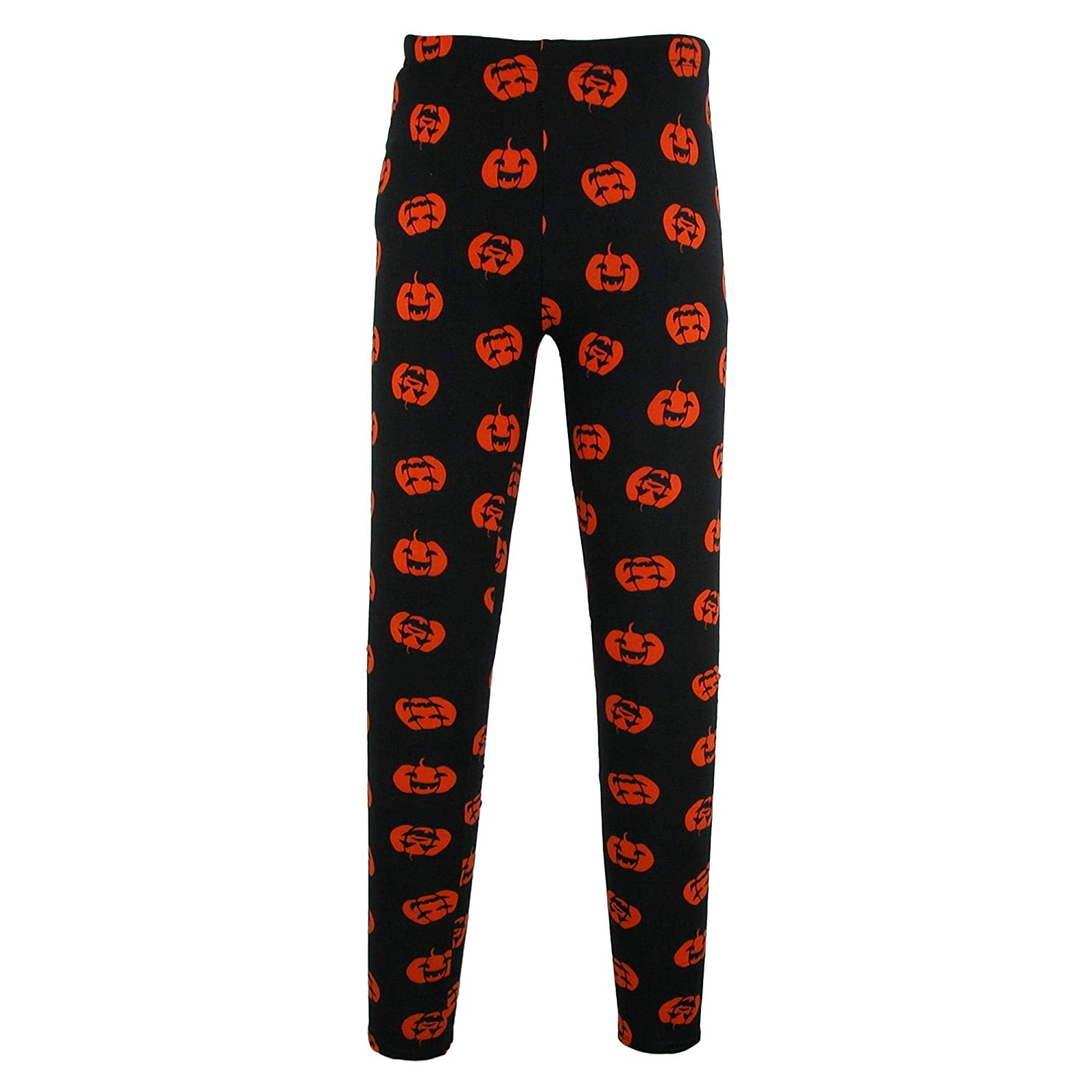 fc83bb6264f Just One Women s Pumpkin Print Halloween Leggings Black at Amazon Women s  Clothing store