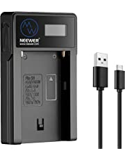 Neewer Sony NP-F550/F750/F960/F970 Replacement Micro USB Battery Charger for Rechargeable Battery NP-FM50/FM70/FM90,QM71D,91D, NP-F500H/F55H