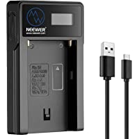 Neewer Micro USB Battery Charger for Sony NP-F550/F750/F960/F970,NP-FM50/FM70/FM90,QM71D,91D, NP- F500H/F55H Batteries