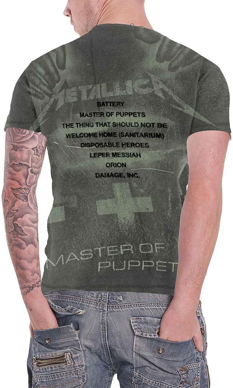 G/én/érique Metallica Master of Puppets Allover T-Shirt Anthracite