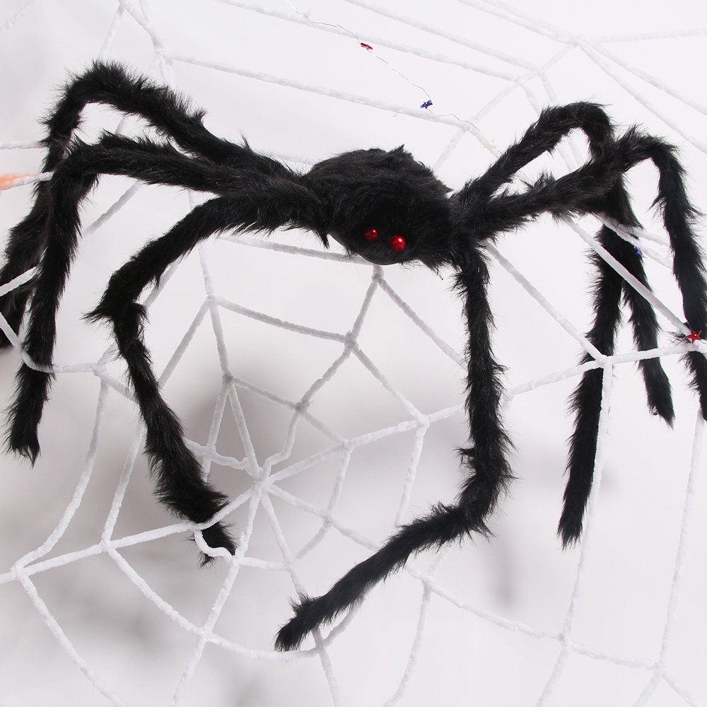 AmyHomie 50 In Giant Spider Halloween Best Hallowa's Christmas Decor, 50inch, Black by AmyHomie