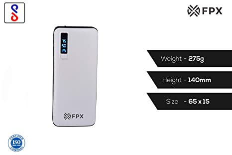 FoxProx FX 13000 39 13000mAH Lithium Ion Power Bank  White