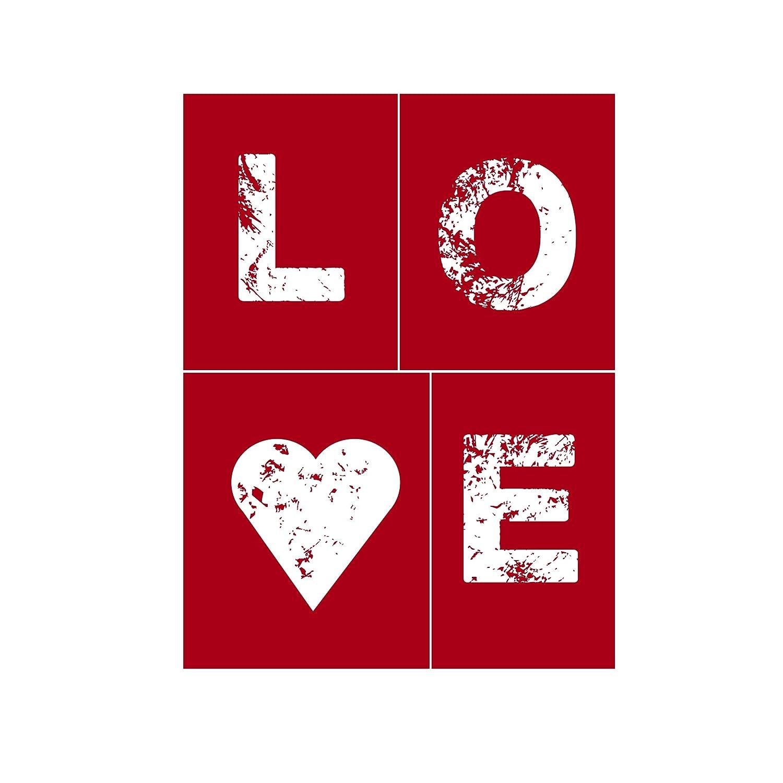 Darice Love Stencil 9 x 12 inches