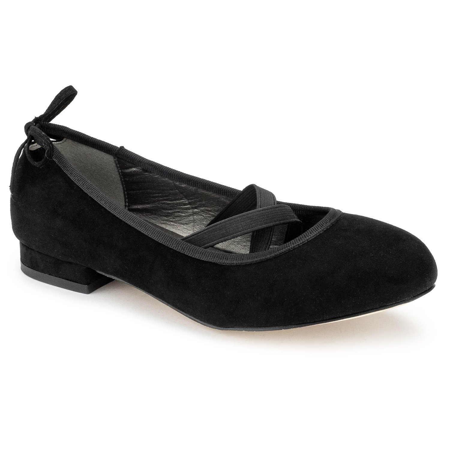 RF ROOM OF FASHION Mary Jane Ballet Flats - Stylish and Comfortable Ballerina Style Flat Shoes - Women's Mary Janes with a Low Heel and Bow Back Straps - Dress Up Down - Slip-on Black SU (9)