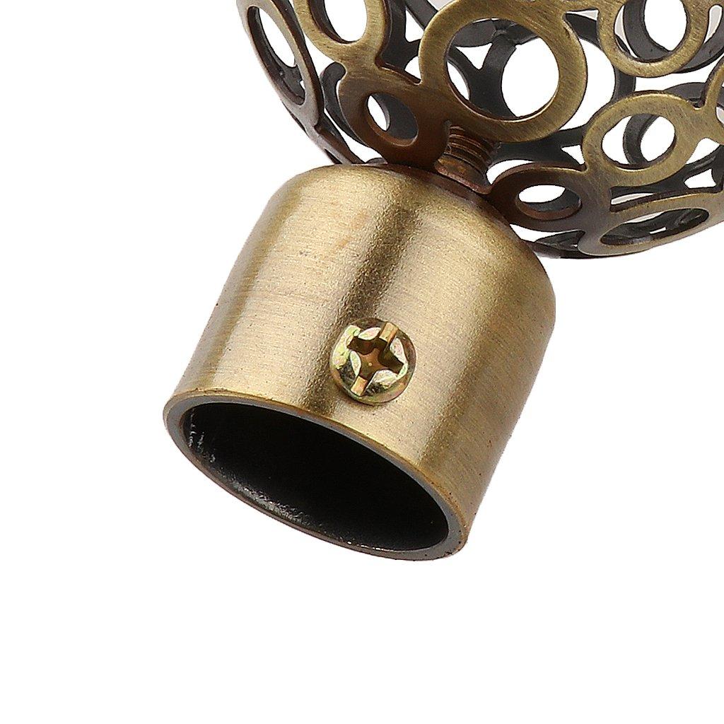 Longueur PICK 3-6inch FITYLE Tringles /à Rideaux De Diam/ètre 22mm Avec Embouts Ronds 1# Bronze