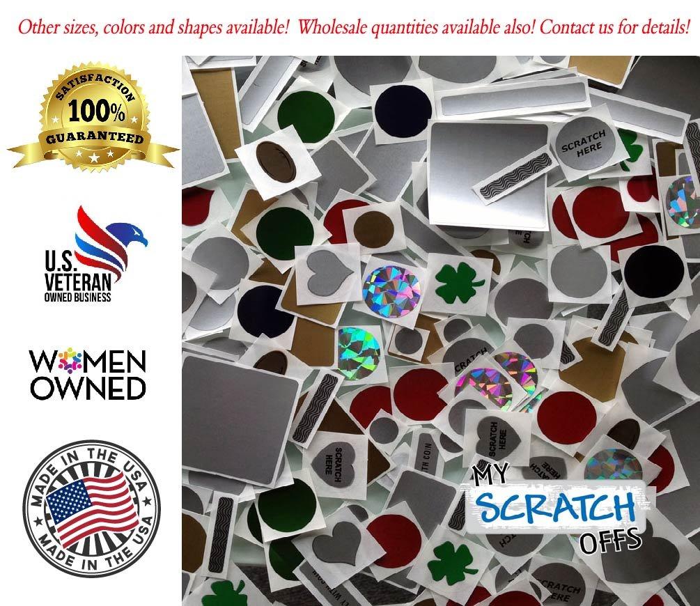 My Scratch Offs 1 Inch Gold Square Scratch Off Sticker Labels 100 Pack