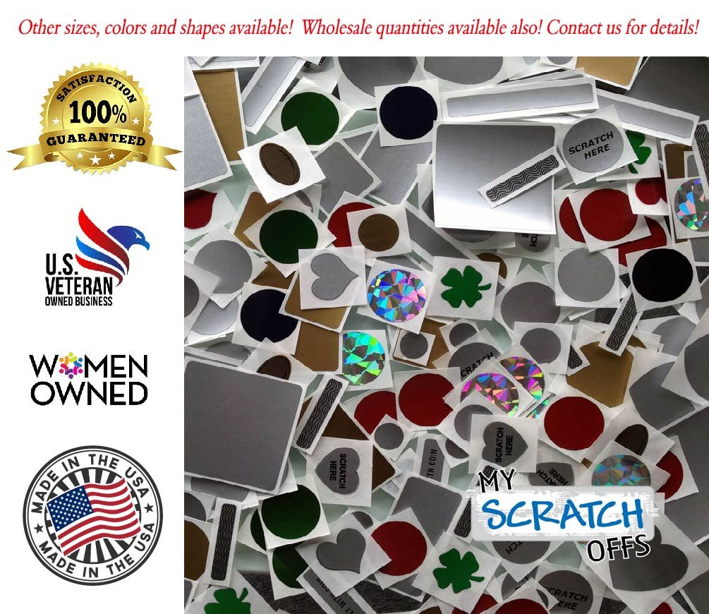Silver 2'' x 1'' Rectangle Scratch-off Stickers Self Peel & Stick DIY Labels scratch-off labels for schools teacher stickers games & promotions or incentives Machine Compatible Roll 500 My Scratch Offs by My Scratch Offs (Image #7)