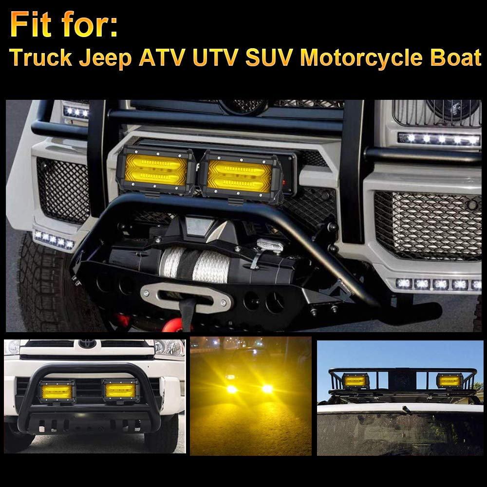 18W Spot Led Driving Lights 18W Led Light Bar Round Spot Beam 1pc Led Work Light Offroad Led Fog Light for SUV ATV UTV Jeep Truck Motorcycle Lamp 1 Year Warranty