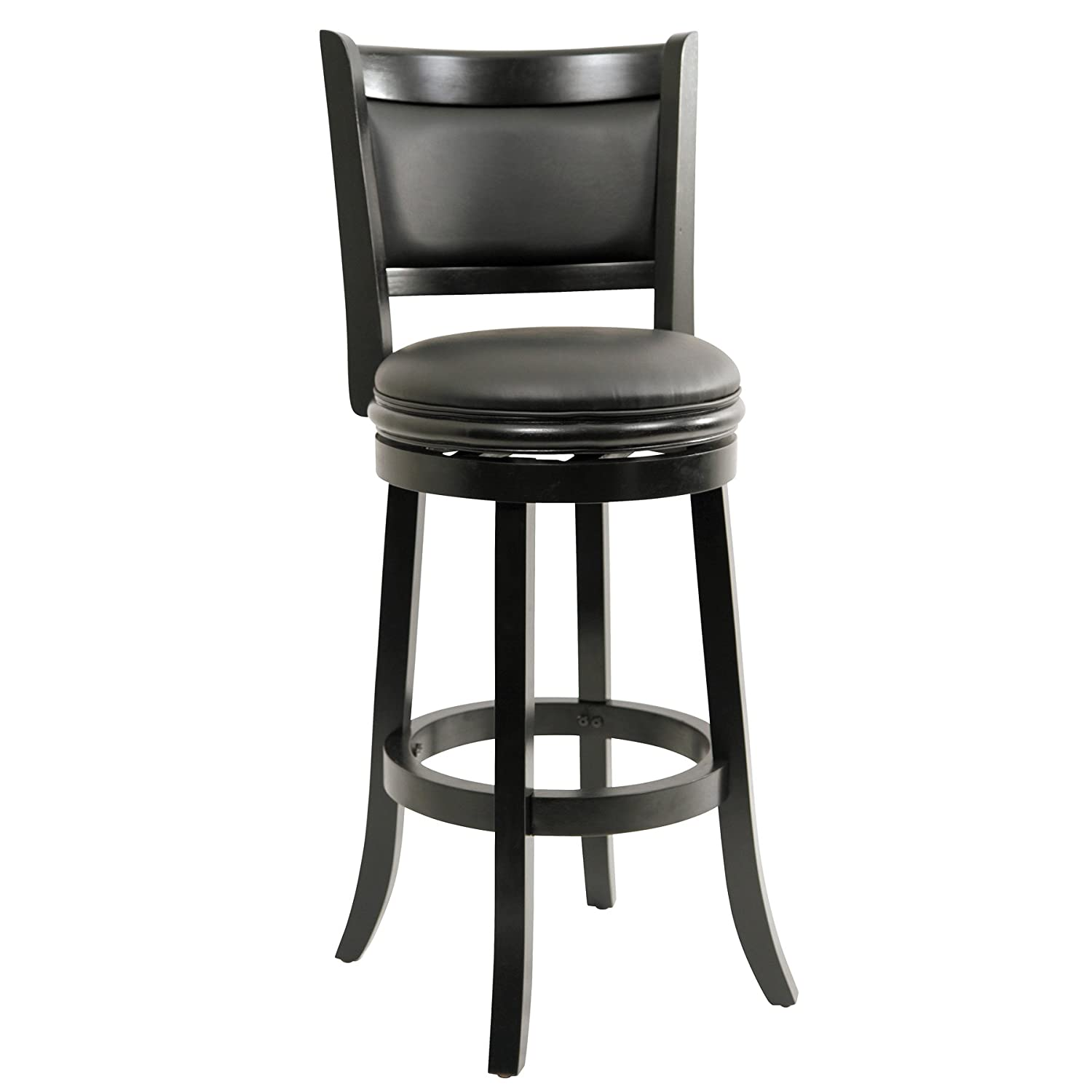 swivel bar stools. Amazon.com: Boraam 45829 Augusta Bar Height Swivel Stool, 29-Inch, Black: Kitchen \u0026 Dining Stools