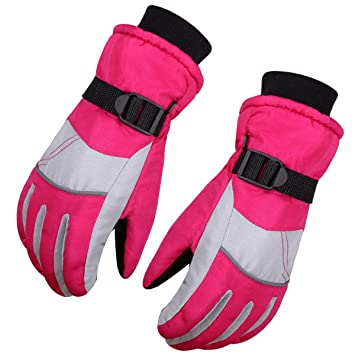 cf2d47930 WITERY Kids Children Winter Warm Gloves Outdoor Sports Full-fingers ...