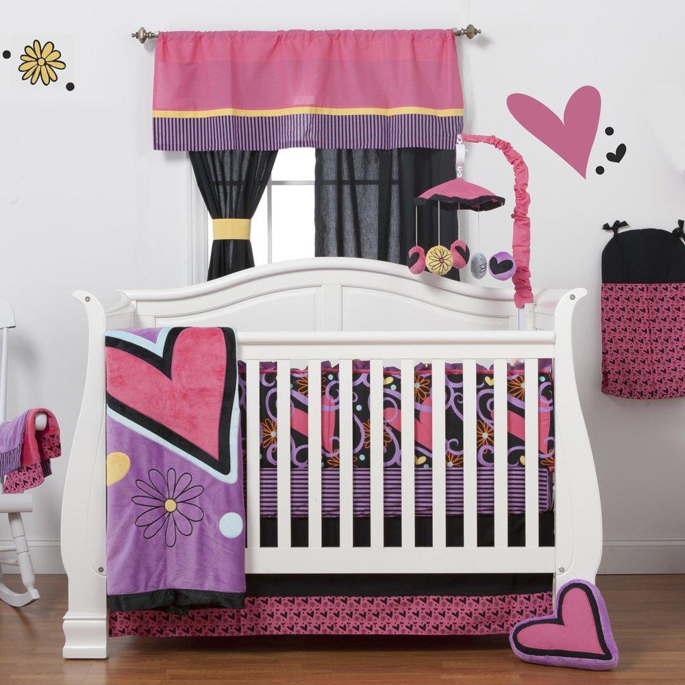One Grace Place Sassy Shaylee Infant Crib Bedding Set, Black/Pink/Purple by One Grace Place   B0093DPSVG