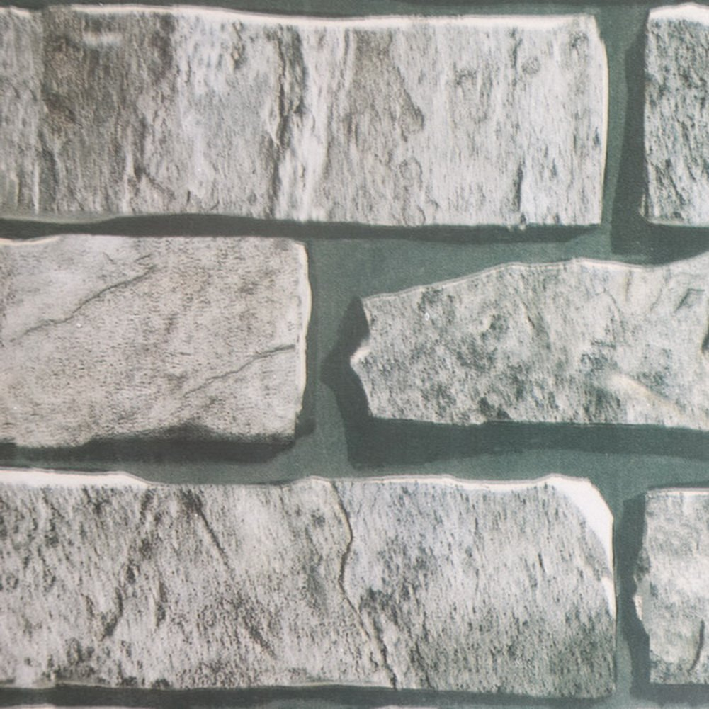 Stone Brick Vinyl Self Adhesive Wallpaper Prepasted Wall