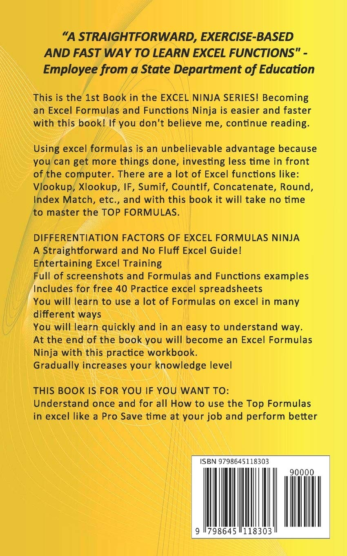 EXCEL FORMULAS NINJA The Top Microsoft Excel Functions to Make ...