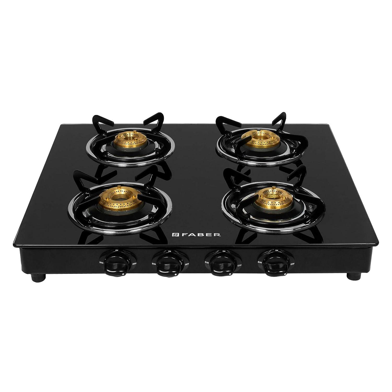 Faber Gas stove 4 Burner Glass Cooktop