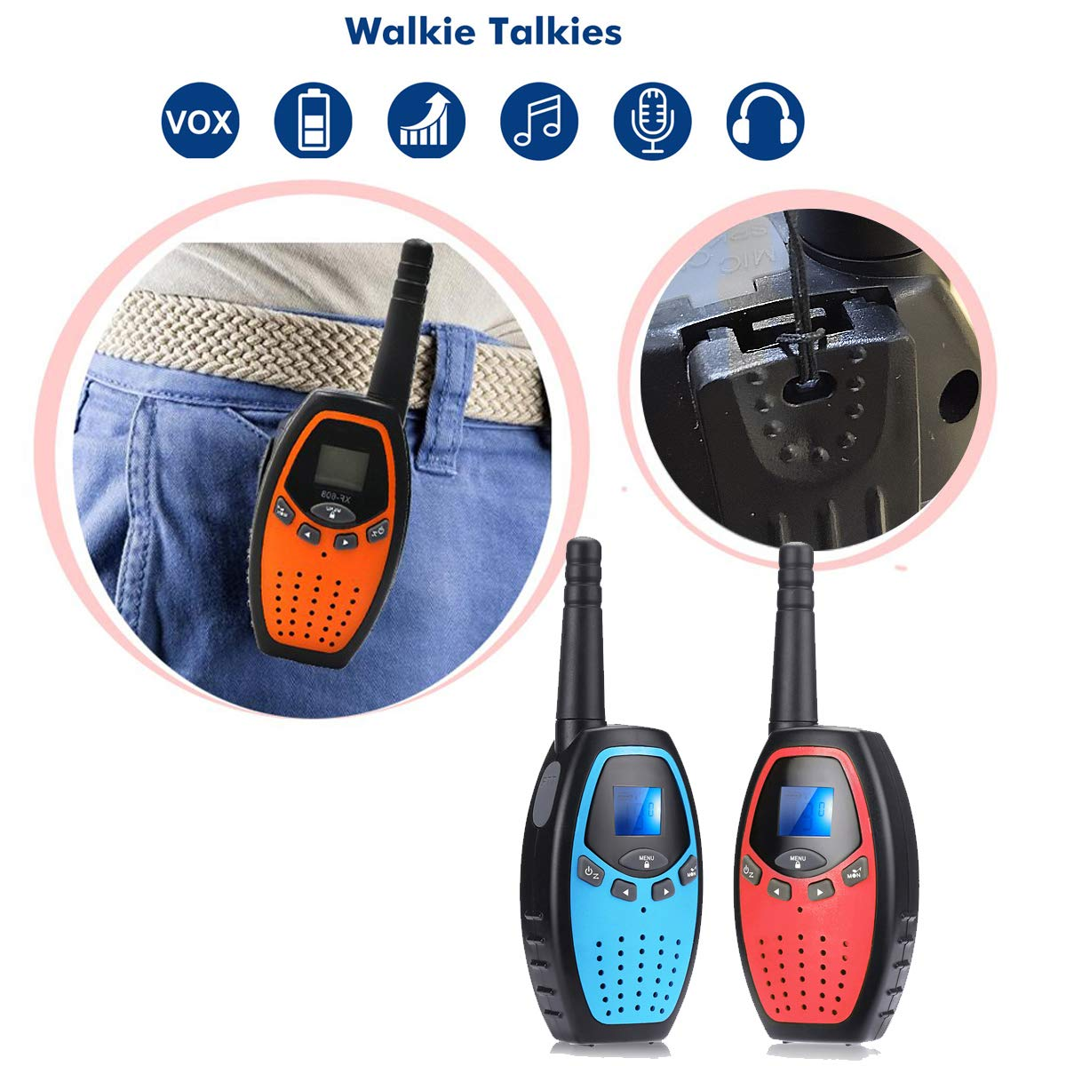 Fistone Walkie Talkies for Kids, 3 Packs 22 Channels 2 Way Radio Long Range Interphone Toys for Boy & Girls Age 3 6 7 8 9 12 Up for Outdoor Adventures, Camping, Hiking by Fistone (Image #6)