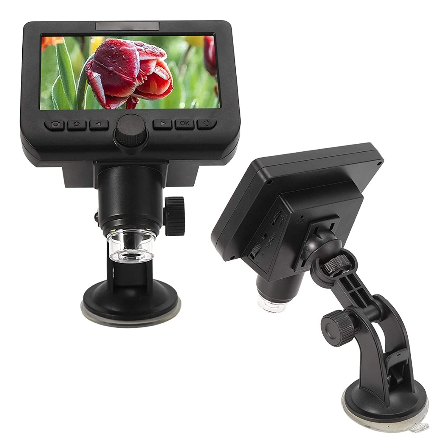 16:9 LED Magnifier 1080P 8 LED 4.3in TFT Digital Microscope with Screen for Android