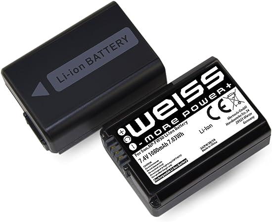 1x Weiss More Power Np Fw50 Li Ion Akku Für Sony Kamera