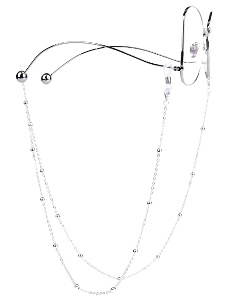 9a299588ef Mini Tree Cordon Lunettes fantasie pour Femme Homme Enfants Chaîne Lunettes  de vue (argent)