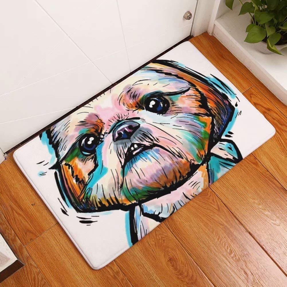YYAANNGG Occhiali da Surf Cane Carino Animale Tappeto Bagno Antiscivolo zerbino Soggiorno Bagno Accessori per Bambini 40x60cm