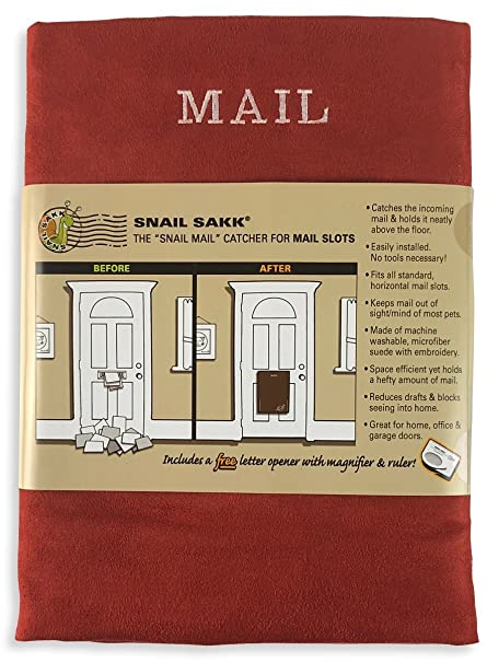 SNAIL SAKK: Mail Catcher For Mail Slots   RED No More Mail On The Floor