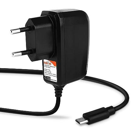 subtel® Cargador - 1.2m (2A) Compatible con bq Edison 3/3 Mini ...