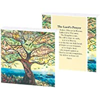 Dicksons The Lord's Prayer Verse Tree Watercolor Design 4 x 4 Wood Wall Sign Plaque