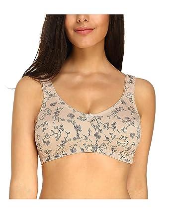 e8016db96a4 KISSLACE Women Plus Size Full Coverage Bra Comfort Wire-Free Non-Foam (34B