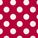 "6.5"" Red Polka Dot Paper Napkins, Pack of 16"