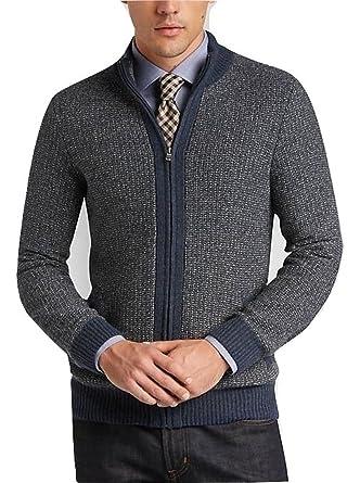 124564d607 Amazon.com: Joseph Abboud Full Zip Sweater (Blue): Clothing