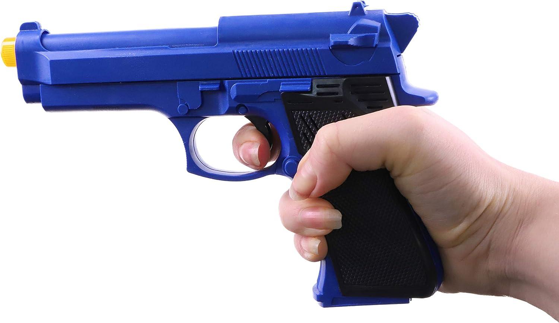 TOYLAND Pistola de Juguete Azul de 28 cm con luz + Sonido - Juegos de rol policiales - Disfraces