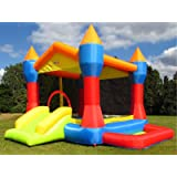 BeBoP Party Inflatable Bouncy Castle for Kids with Ball Pit and Slide