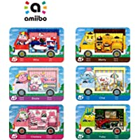 6PCS Amiibo Rare RV Villager Furniture NFC Cards for Animal Crossing New Horizons,Collaboration Pack Sanrio Mini Card…