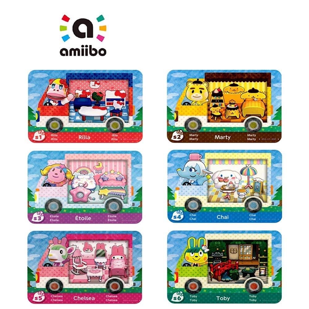 6PCS AMIIBO 희귀 RV 마을 가구 NFC 카드한 동물의 횡단 새로운 지평,협력 팩 SANRIO 미니 카드,호환 NINTENDO 스위치     WII U   LITE   새로운 3DS