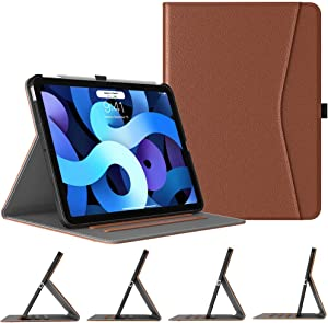 TiMOVO Case for New iPad Air 4th Generation, iPad Air 4 Case (10.9-inch, 2020), [4 Viewing Angles] PU Leather Folding Folio Stand Cover, Support 2nd Gen Apple Pencil Charging & Auto Wake/Sleep, Brown