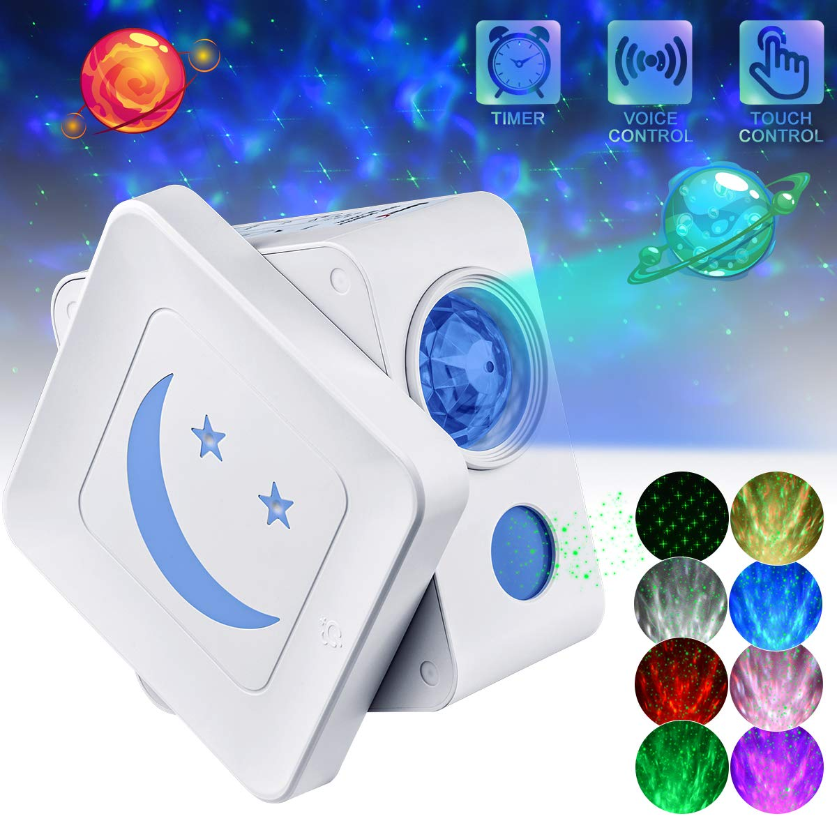 LED Starlight Projector, Night Light Projector with Adjustable Projection Angle