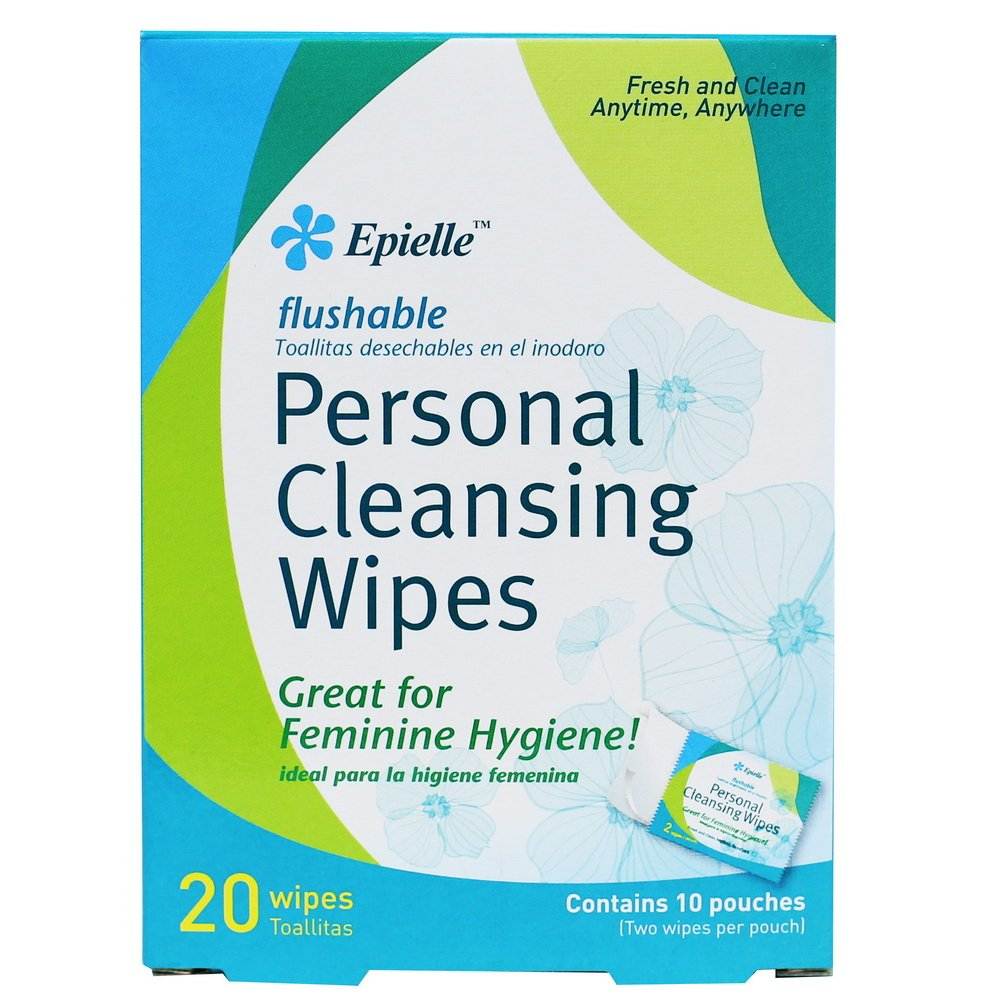 Amazon.com: Epielle Personal Cleansing Wipes-20ct (2 Pack): Health & Personal Care