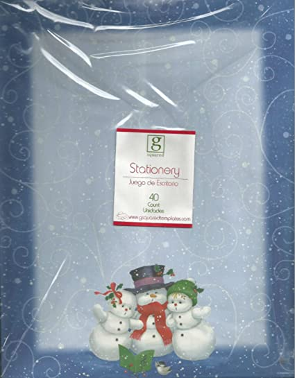 amazon com christmas holiday winter stationary snowman family