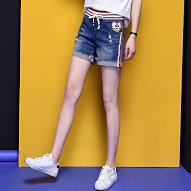cb5a9e673ff8 Image Unavailable. Image not available for. Color  Spring Moon Denim Shorts  Female Summer ...