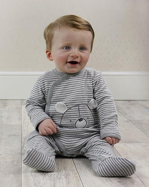 The Essential One - Bebé Oso Pijama - Paquete de 3 - Gris - ESS209