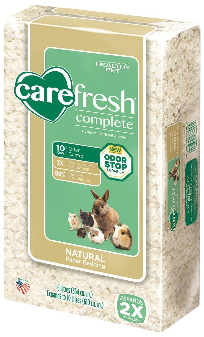 Carefresh Complete Natural Paper Bedding - White - 10 lt