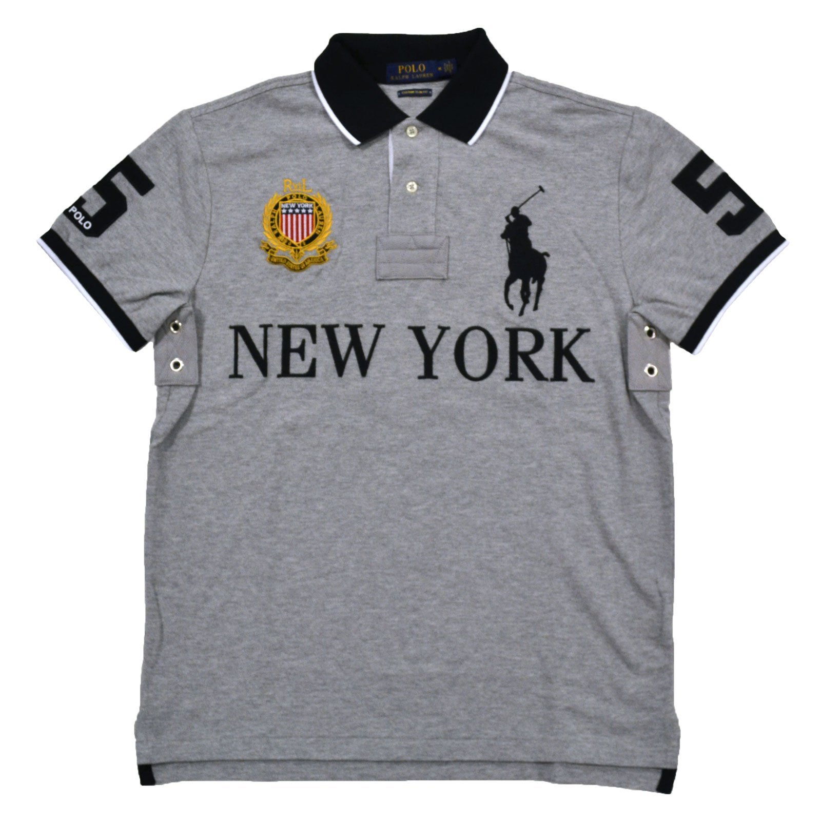 8dd9cd4d Galleon - Polo Ralph Lauren Mens Custom Slim Fit Mesh City Polo Shirt  (Purple Los Angeles, Large)